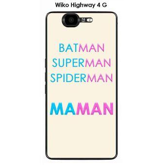 Coque Wiko Highway 4G design Maman vs Batman