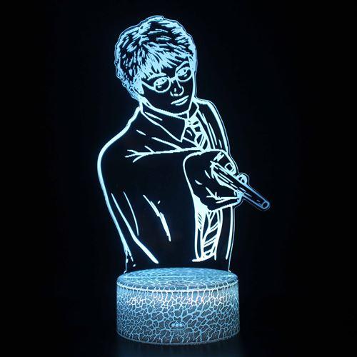 Lampe 3D Tactile Veilleuses Enfant 7 Couleurs avec Telecommande - Harry potter #1148