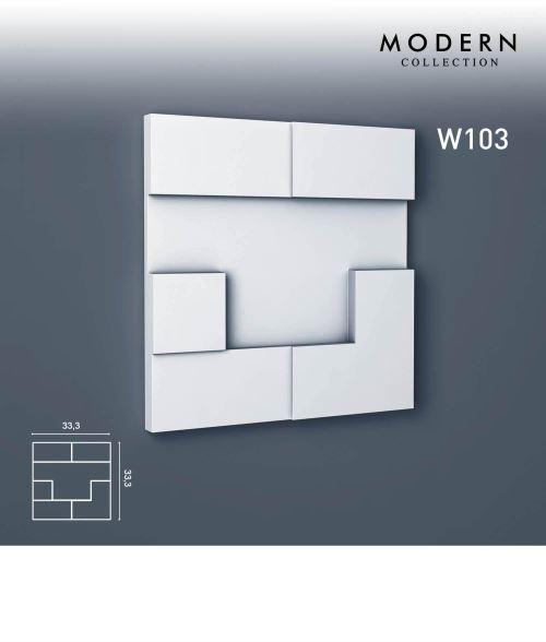 3d panneau mural Orac Decor W103 MODERN CUBI Élement décoratif design moderne blanc
