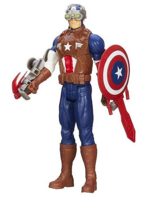 Figurine avengers - captain america grappin et accessoires - figurine 30 cm - hasbro - 6757