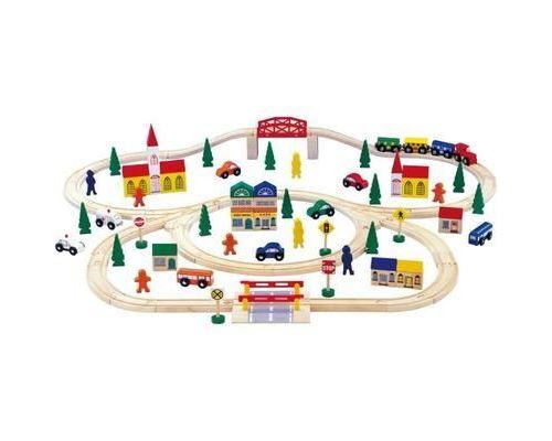 Chemin de fer en bois - grand format - 100 pieces