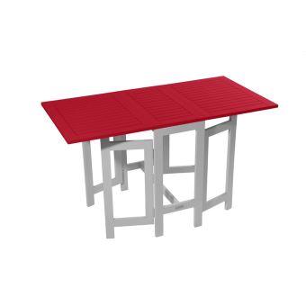 Table console de jardin pliante BURANO CITY GREEN Rouge - Mobilier ...