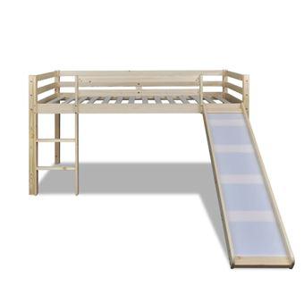 Vidaxl Lit Mezzanine Pour Enfants Avec Toboggan Et échelle Bois