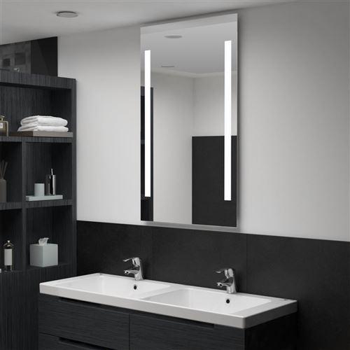 Miroir mural à LED pour salle de bains 60 x 100 cm (144704)