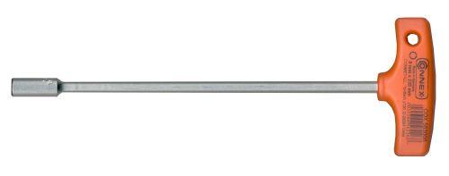 Connex COX583008 Clé à douille avec manche en T, Argent/noir/rouge, 8 x 230 mm