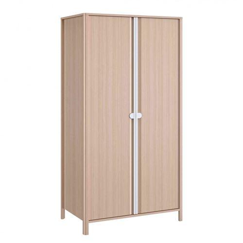 Armoire bébé 2 portes en bois imitation chêne clair - AR5050