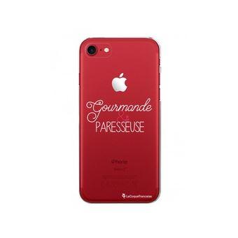 Coque Iphone 7 Iphone 8 Rigide Transparente Gourmande Blanc Edition Rouge La Coque Francaise