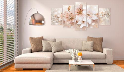 100x50 Tableau Lys Fleurs sublime Jewel of Innocence