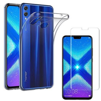 Coque honor 8x arriere verre trempe