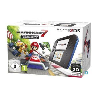 Nintendo 2DS-console zwart en blauw + Mario Kart 7 vooraf geïnstalleerd