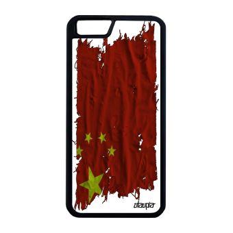 Coque de protection Apple iPhone 6 6S Plus silicone drapeau chine chinois basket
