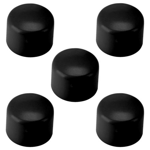 5x embout de tube rond enveloppant 21 mm pvc bouchon chaise noir capuchon