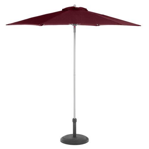 Parasol droit rond Anzio - Diam. 230 cm - Bordeaux