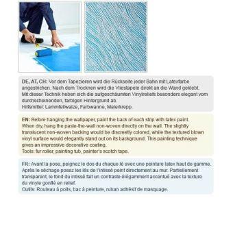 Papier Peint Non Tissé Edem 377 60 à Peindre Pour Mur Et Plafond Texturé Décorative 26 50 M2