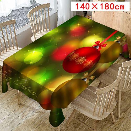 Nappe de Noël Imprimer Rectangle Table Cover Holiday Party Home Decor_Kiliaadk432