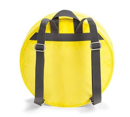 NICI 40727 – Sac à dos Smiley en peluche jaune Ø 30 x 10 cm