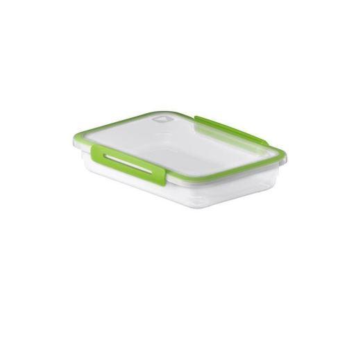 SUNDIS Boîte de conservation plate Memory 1267002 0,85L 23x16x4,7 cm vert et transparent