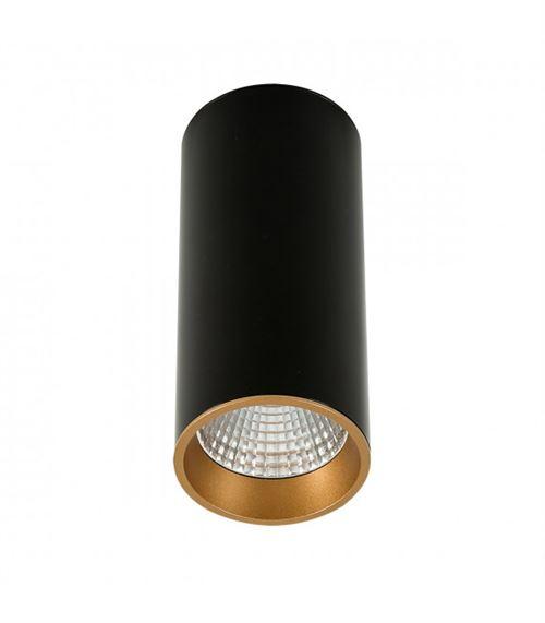 Plafonnier spot technique et moderne Moldes Big BL/GO Ceiling 3000K Noir, doré