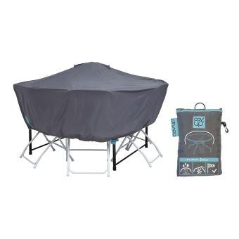 Housse de protection pour Table ronde 120 cm - Cov\'Up - Gris