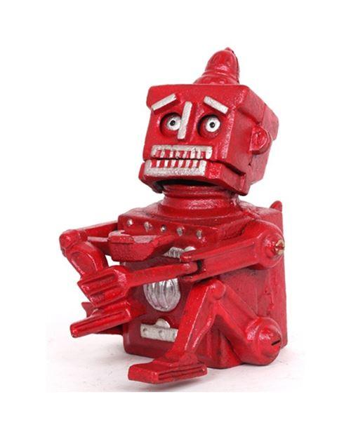 Tirelire a système robot en fonte - 18 cm