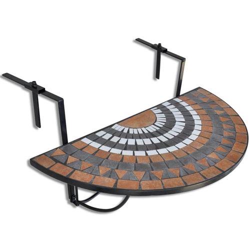 chunhe Table suspendue de balcon Terre cuite et blanc Mosa?que AB41126