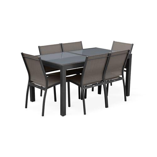 Salon de jardin table extensible - Orlando foncé clair ...