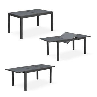 Salon de jardin table extensible - Orlando foncé clair Alice\'s Garden