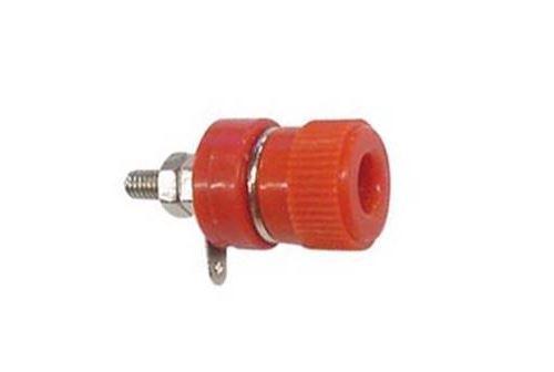 Douille 4mm nickelee rouge
