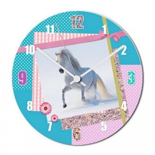 Pendule cheval tendance pastel