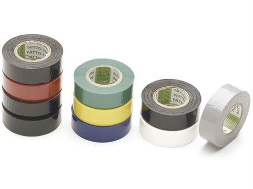rubans adhesifs isolants 19mm x 10m ( pack de 10)