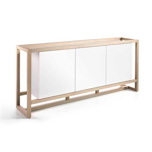 Buffet 3 portes Blanc/Chêne - AUCKLAND