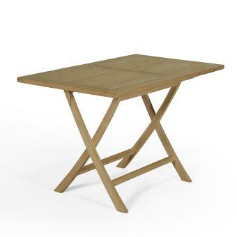 Table pliante rectangulaire en teck Ecograde Kensaï 120 x 70 ...
