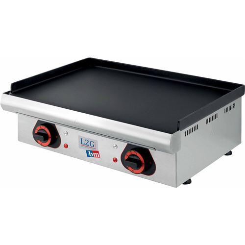 Plancha lectrique lisse - 4000 W - Surface acier : 750 x 390 mm - inox