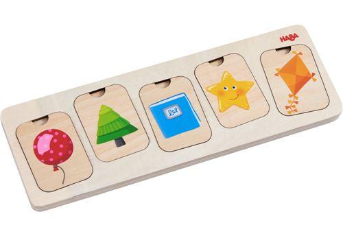 Haba puzzle en bois Couleurs et formes 10 pièces