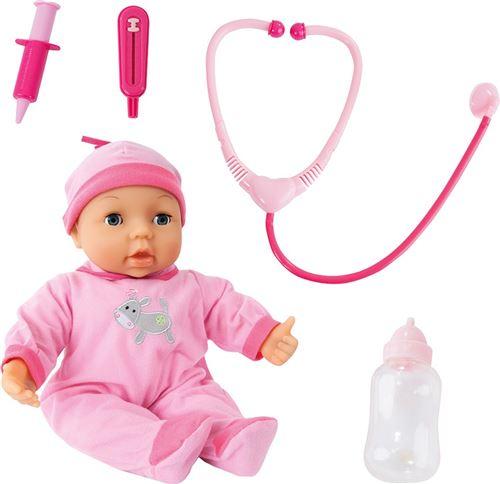 Bayer bébé poupée avec doktersset rose 38 cm