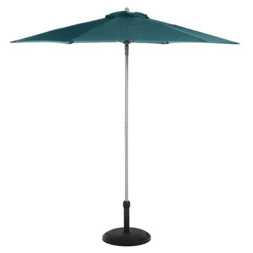 Parasol droit rond Anzio - Diam. 230 cm - Bleu canard