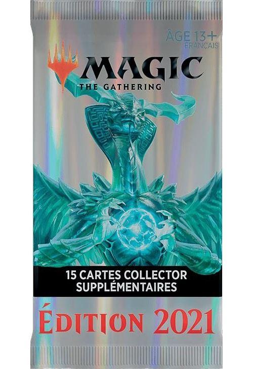 1 booster collector de 15 cartes supplémentaires édition 2021 de magic the gathering