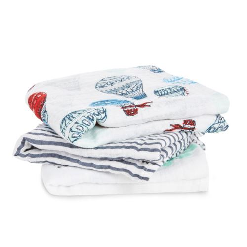 Lot de 3 petits Langes en mousseline de coton DREAM RIDE aden + anais