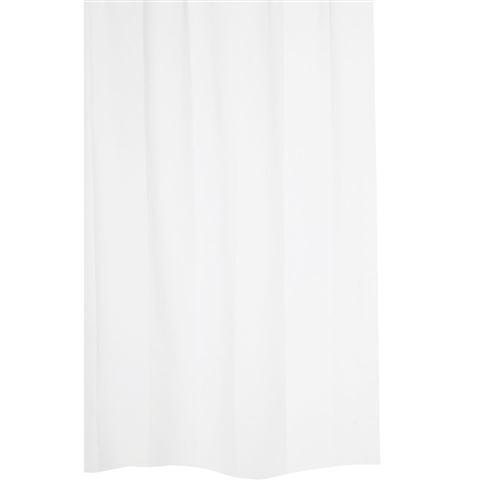 Rideau de douche uni ANNIS - 120 x 200 - Blanc