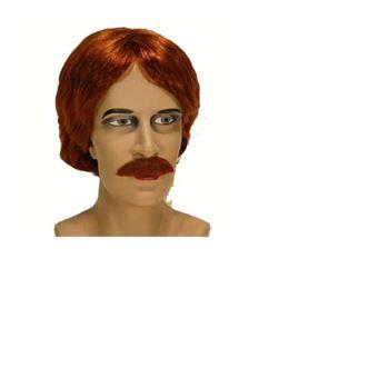 Perruque homme roux avec moustache - Autre