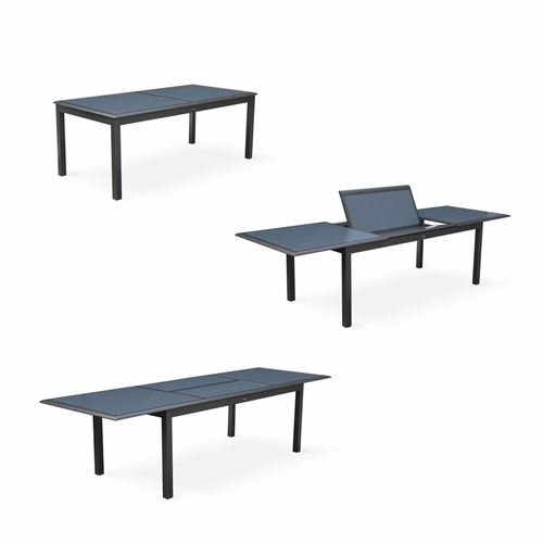 Anthracite Jardin Salon De Table Gris Extensible Philadelphie FTlcK1J