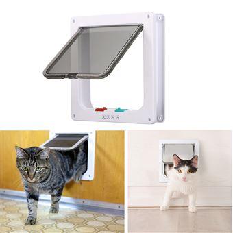 0733a7cc72307f -20% sur Maison et dôme pour chat,Porte intérieure verrouillable à 4 voies pour  chat, blanche - Paniers et mobilier pour chat - Achat   prix   fnac