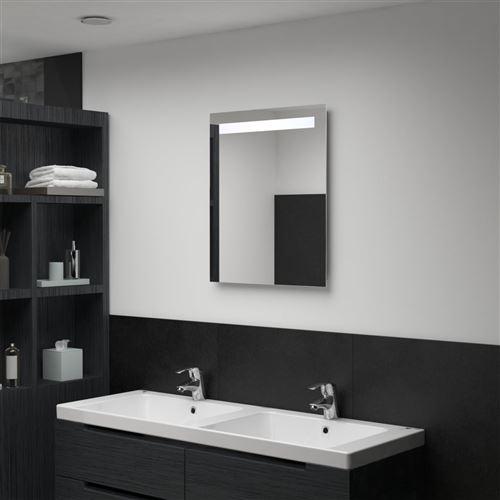 Miroir mural à LED pour salle de bains 50 x 60 cm (144708)