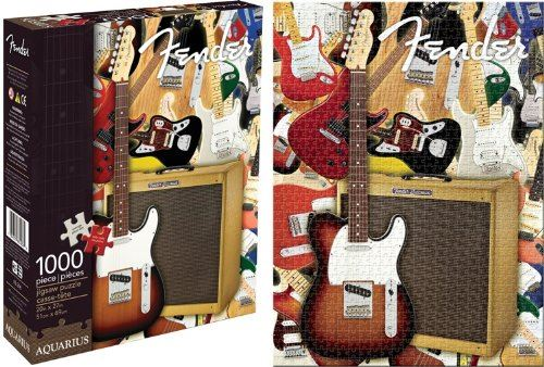 Aquarius Fender Collage 1000 Piece Jigsaw Puzzle