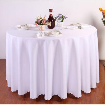 Nappe de table, Nappe ronde blanche, Nappe ronde 240 cm ...