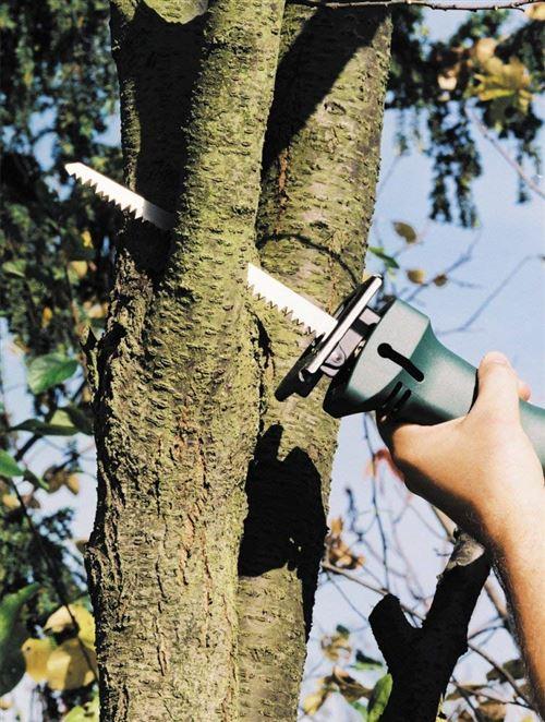Wolfcraft 2299000 2 Lames de Scie Sabre Hss, Dents Ondulées Et Fraisées, Pas de Dents 2,5 Mm, Longueur Dentée 130 Mm