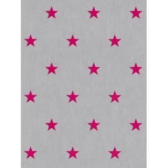 Etoile Papier Peint Rose Et Gris Rasch Decors Et Stickers Achat