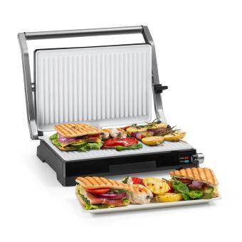 Klarstein Buffalo Grill pour panini & toasts Puissance 2000W Acier inoxydable noir & argent
