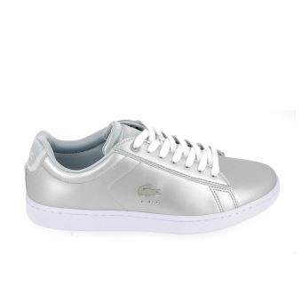 dee06fbd71 LACOSTE Carnaby Evo 118 Gris Blanc 38 Femme - Chaussures et chaussons de  sport - Achat & prix | fnac