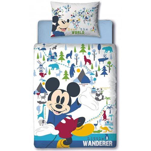 Mickey Disney Wanderer - Parure de Lit bébé - Housse de couette